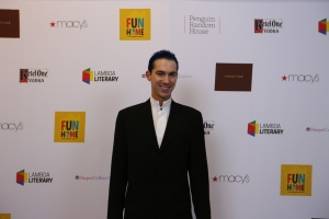 Author David Reddish at the 2015 Lambda Literary Awards on the red carpet